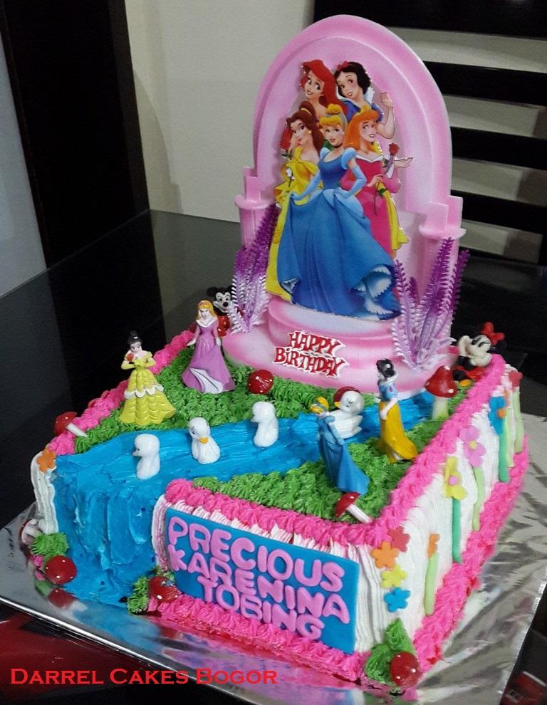 Princess Cream Cake Darrel Cakes Bogor